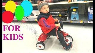 Colors for Children, Toy Shopping, Monster Trucks, Surprise Eggs,  Learning for Kids Playground