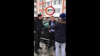 Видео: Пьяный военком.... ДТП под Киевом в Буче: пьяный на БМВ СА3198ТВ катался по дворам, подбил 2
