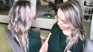 Окрашивание в Блонд без желтезны Плавная растяжка цвета   Видео с тренинга по колористике для новичк