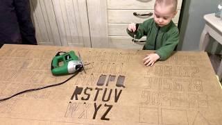 Вырезаем буквы, цифры и фигуры. Изучаем цвета. Развиваемся)