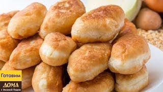 Жаренные пирожки с 3-мя видами начинки.