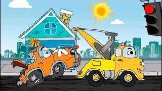 Мультик - Машинки для детей - У светофора. Развивающие мультфильмы для самых маленьких.