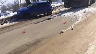 ДТП на улице Банбана в Сыктывкаре, 28.03.2018