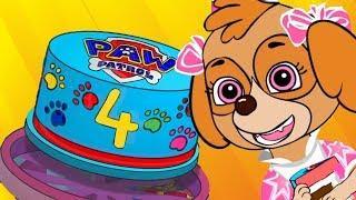 Paw Patrol Skye's BIRTHDAY Animation for Kids!