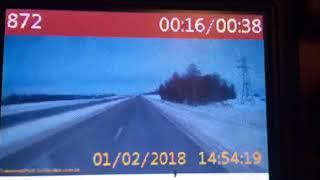 Момент страшного ДТП на трассе М-7 в Татарстане, случившееся 1 февраля 2018