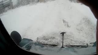 Я и МТЗ чистим снег.