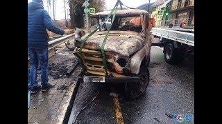 Четыре человека пострадали в ДТП в Лазаревском районе, где загорелся автомобиль
