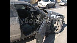 Водитель «Чайзера» разбил встречный кроссовер в Хабаровске. MestoproTV