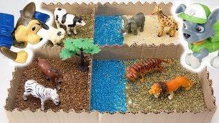 Щенячий патруль в Зоопарке. Животные для детей. Развивающие мультики для малышей. Игрушки Paw patrol