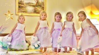 Five Little Babies Jumping on the Bed  Nursery Rhymes Music for Children  Funny video for Kids