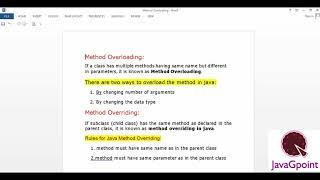 Concept and Programming of Overloading and Overriding