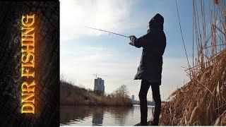 Рыбалка на реке Кальмиус. Рыбалка в Донецке .Микроджиг