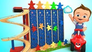 Baby Learning Colors with Fun Play Wooden Tumbling Colors Stars Toy Set 3D Kids Children Toddler Edu