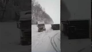 Видео с места ДТП на М1 под Смоленском 4 февраля