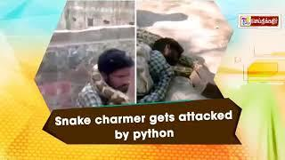 SHOCKING INCIDENT | Snake charmer gets attacked by Python | UTTAR PRADESH | மலைப் பாம்பு | பாம்பு |