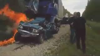 Страшная дтп авария! Без Огнетушителя не водите автомобиль!
