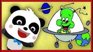 Атака пришельцев в космосе. Поймали трех пришельцев. Обучающая Игра Для Детей  #МультиМикс