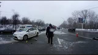 Видео 360 ДТП Киев Лобановского Хонда Фольксваген труп
