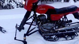 /Буран из мотоцикла Ява - 350/обзор/