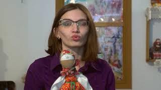 Кукла на ложке в Омском музее Просвещения.284
