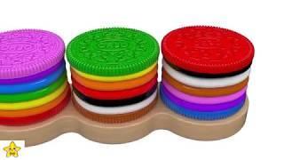 Цветные Печеньки - Обучающие Мультики для Малышей | УЧИМ ЦВЕТА - Мультики Печеньки