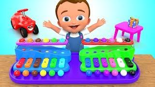 Learning Colors for Children with Little Baby Fun Play Hammer Color Balls Xylophone 3D Kids Edu