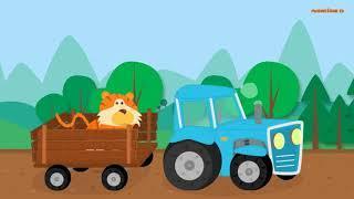 Песенки для детей   Синий Трактор   Обучающий Мультик про Машинки и разных Животных