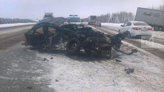 ДТП на трассе М7 в Рыбно-Слободском районе, Республика Татарстан